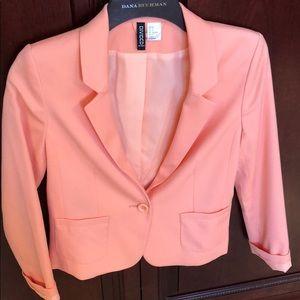 Pastel orange blazer